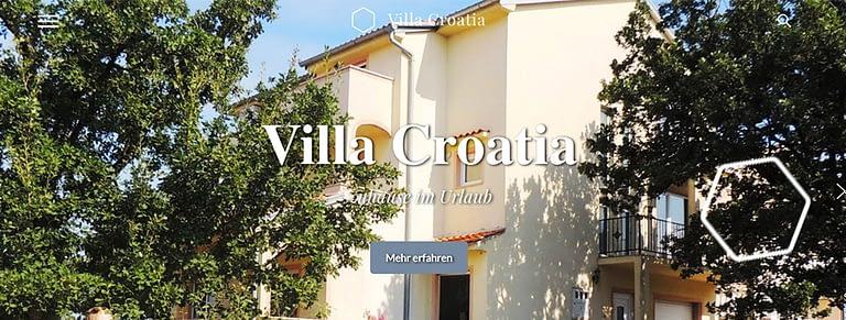 Villa Croatia Webdesign